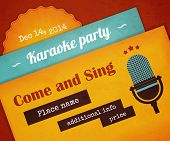 Retro karaoke party poster
