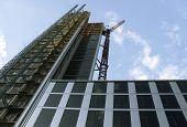 Constraction of the skyscraper.
