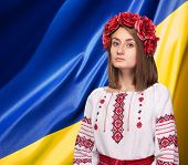 Girl In The Ukrainian National Suit