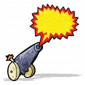 cartoon cannon firing