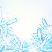 Vector card with winter decor