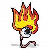 cartoon burning eyeball