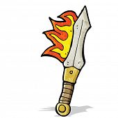 flaming magic sword cartoon