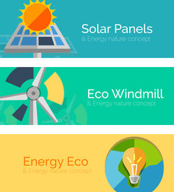 foto of solar battery  - Eco - JPG
