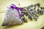 Dried Lavender Flowers and Sachet