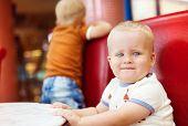 Little boys in cafe