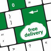 Free Delivery Key On Laptop Keyboard Keys