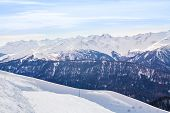 pic of caucus  - Caucasus mountains during daytime in winter - JPG