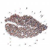 people in the form of lips.