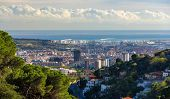 picture of gaudi barcelona  - View of Barcelona from Tibidabo mountain  - JPG