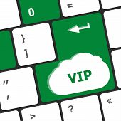 Vip Written Button Keys On Computer Keyboard