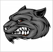 Wolf head mascot illustration
