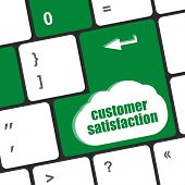 Customer Satisfaction Key Word On Computer Keyboard
