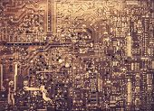 Old Printed Circuit Board.