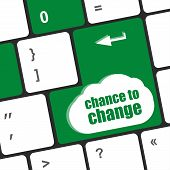 Chance To Change Key On Keyboard Showing Business Success