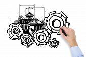 Hand Drawing Cogwheel
