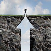 Man Climbing To Success