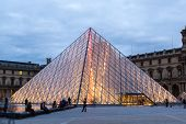 The Louvre At Night In Paris