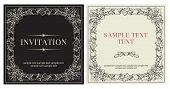 Set of templates for invitation