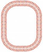 Openwork Red Orange Vector Frame