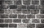 High Resolution Clean Monochrome Pattern Of Brick Wall