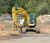 Track-type Excavator On Ground