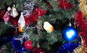 Toys On Green Christmas Fir