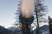 Snow Making Machine Close Up