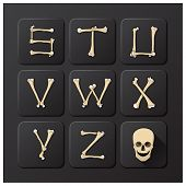 Bones Alphabets Set 3