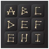 Bones Alphabets Set