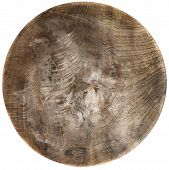 Round Vintage Cutting Board Over White