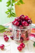 Summer Fruits Closeup Cherries Jar Processed