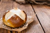 Salty Pretzel Roll (close-up Shot)