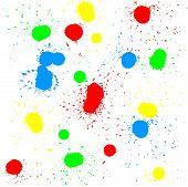 Brush blot vector on white background. Vector illustration.