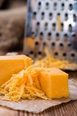 Portion Of Grated Cheddar