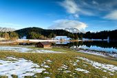 Alpine Meadow By Geroldsee Lake