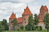 Trakai Castle On Lake Galve.