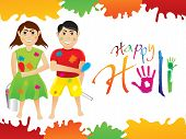 picture of dharma  - abstract artistic colorful holi background vector illustration - JPG