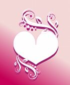 Heart On Pink
