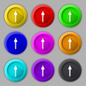 Dropper Sign Icon. Pipette Symbol. Set Of Colored Buttons. Vector