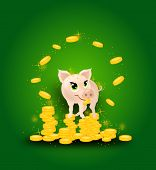Pig On Golden Coins