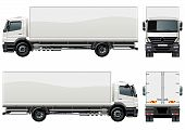 stock photo of tractor-trailer  - Vector delivery  - JPG