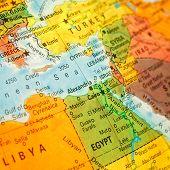 Close-up Map Egypt