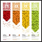 Qr Code Business Infographics Banner And Background