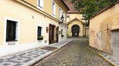 Small Street Anezska In Prague