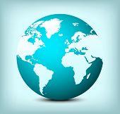 Vector Globe World Map Icon