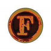 Grunge Font -  Letter F