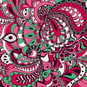 Ornamental Abstract Background With Many Details