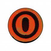 Grunge Font - Letter O