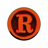 Grunge Font - Letter R